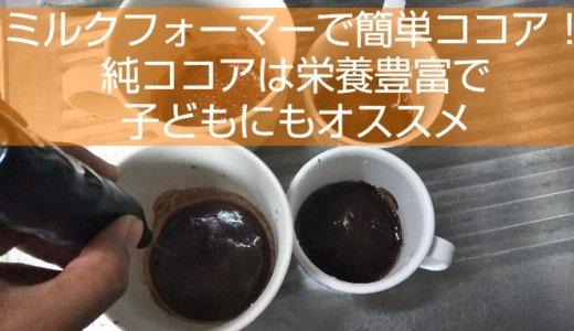 100均のミルクフォーマーで簡単に!純ココアで作るココア
