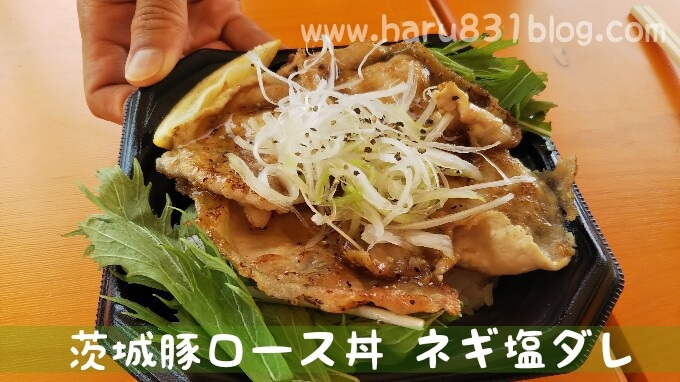 茨木豚ロース丼ネギ塩ダレの写真