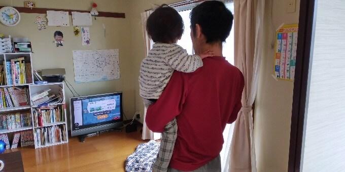 子供抱っこしながらリングフィット